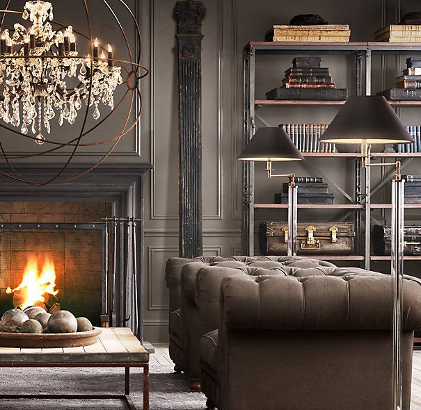 72 French Library Shelving Cabinets Sideboards Hutches Restoration Hardware Interior Decor Rustic Chandelier