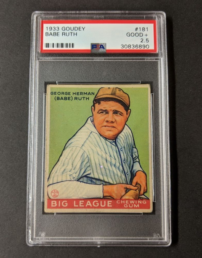 1933 Goudey Big League Chewing Gum 181 Babe Ruth Psa 25