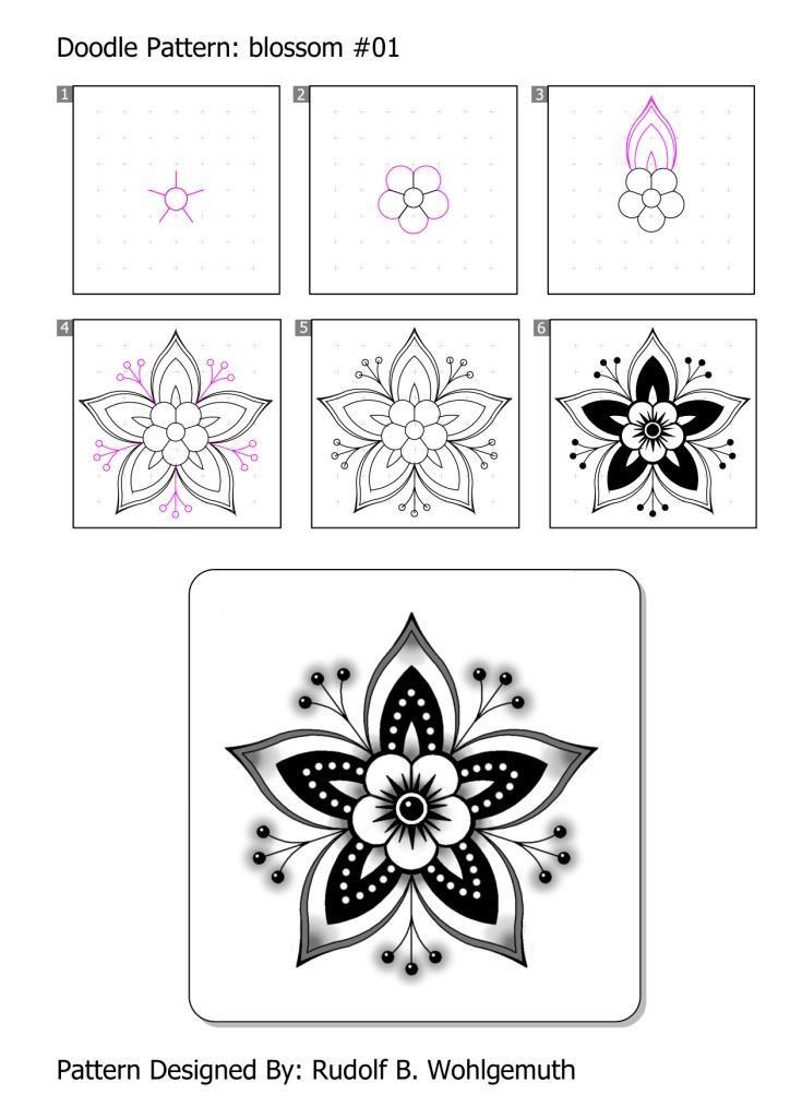 #zendoodle #zendoodle pattern #blossom #flowers #creative