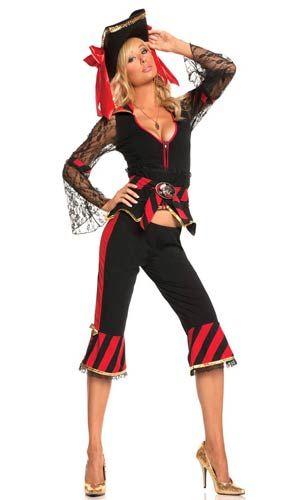 Treasure Hunter Temptress Sexy Costume - Pirate Costumes
