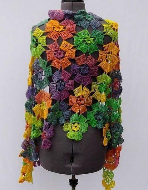 Crochet poncho Multicolor Cape | | Raštai | Pinterest