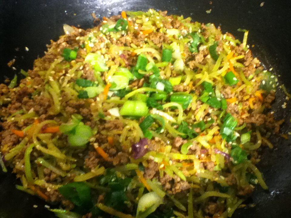 Low Carb Broccoli Slaw Stir Fry - ground beef (might sub ...
