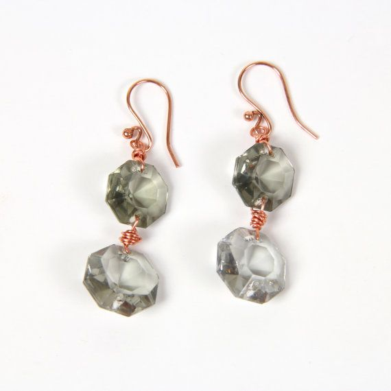 Crystal Wire-Wrapped Earrings by MyJewelryEvents on Etsy