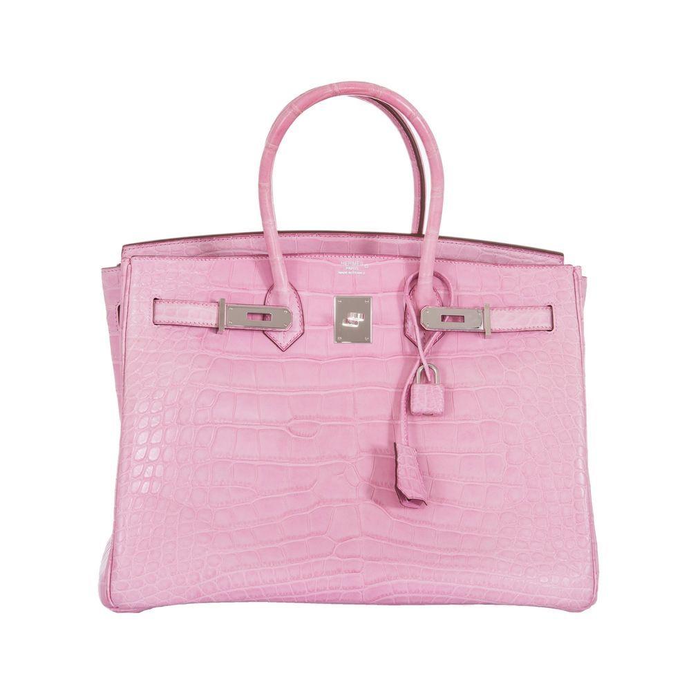 20af4661377 Hermes Birkin 35 Bubblegum 5P Pink Alligator Palladium Hardware •  Investment Bag