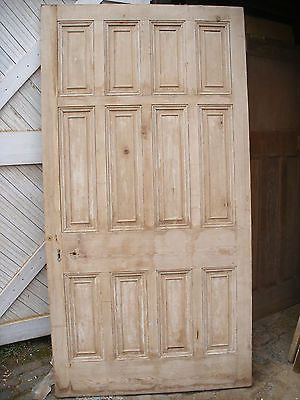 Huge Georgian 12 Panel Pine External Exterior Front Door Exterior Front Doors New Homes Front Door