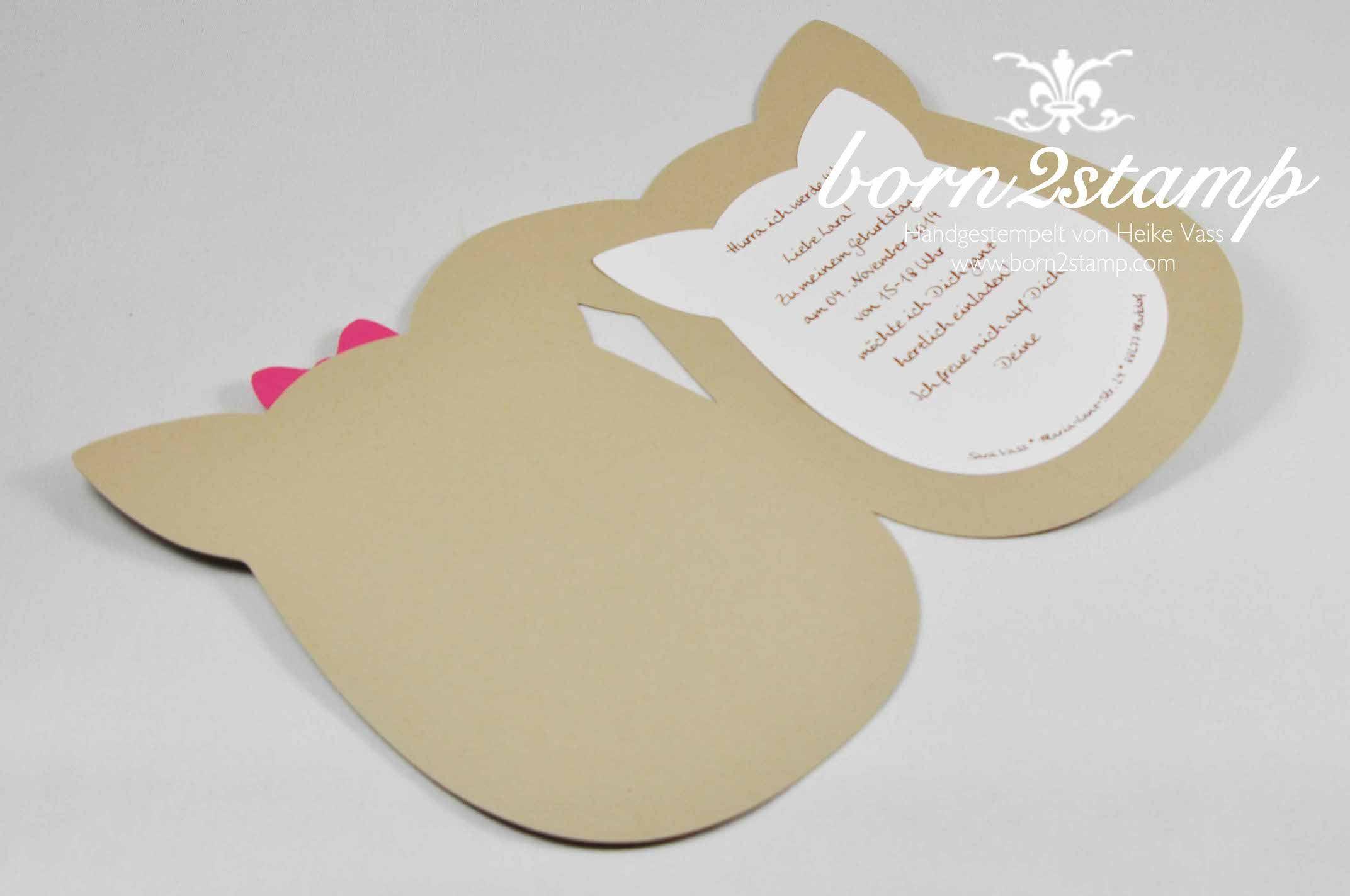stampin' up! born2stamp silhouette cameo einladung pferdeparty, Einladungskarten