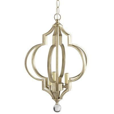Lighting a silvery finish highlights this modern 3 d quatrefoil lighting a silvery finish highlights this modern 3 d quatrefoil design accented by a aloadofball Choice Image