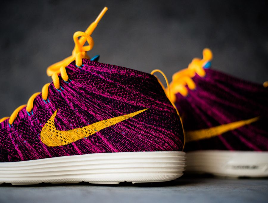 Nike Lunar Flyknit Chukka - Grand Purple - Total Orange  13951d3bc