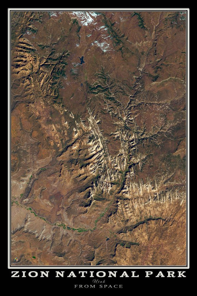 Zion National Park Utah Satellite Poster Map   WEIRD TREES ... on political map of utah, road map of utah, relief map of utah, physical map of utah, driving map of utah, elevation map of utah, topo map of utah, detailed map of utah, satellite view of utah, outline map of utah, city map of utah, topographic map of utah, terrain map of utah, street map of utah,