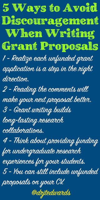 5 Ways to Avoid Discouragement When Writing Grant Proposals
