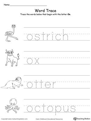 Early Childhood Alphabet Worksheets Learning letters, Preschool - letter of recognition