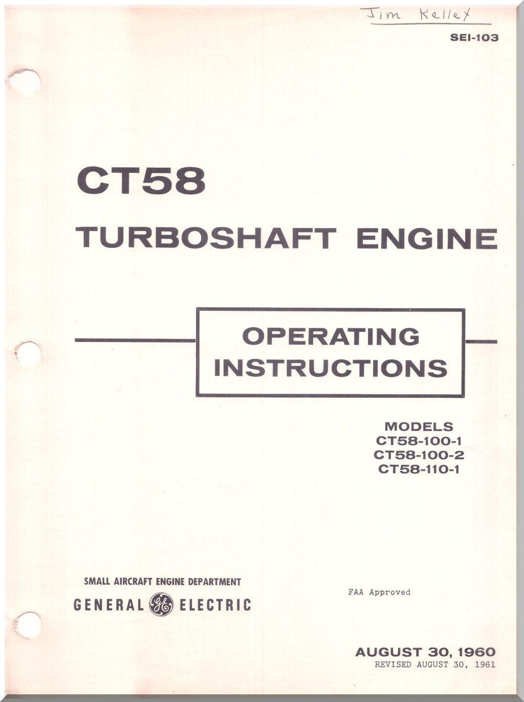 ge ct 58 aircraft engine operating instruction manual sei 103 1960 3 rh pinterest com general electric dishwasher user manual general electric microwave user manual