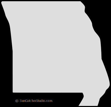 Missouri State Shape Sticker Outline Black State Shapes State Shape Art Missouri State
