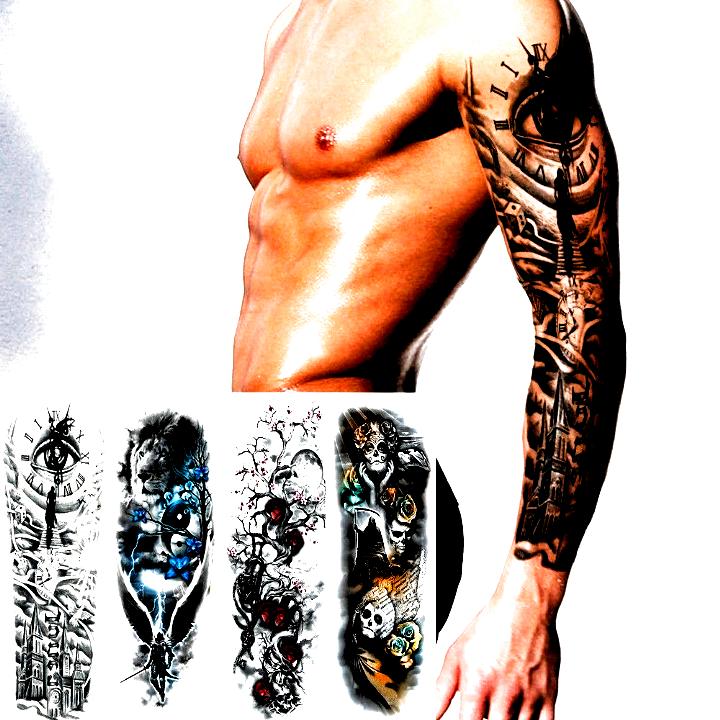 Men Arm Tattoo Temporary Tattoos Sticker Fake Tatoo Body Art Waterproof 3d 3d Art Ideas Of 3d Art 3dart Art 3d In 2020 Arm Tattoos For Guys Unique Tattoos Tattoos