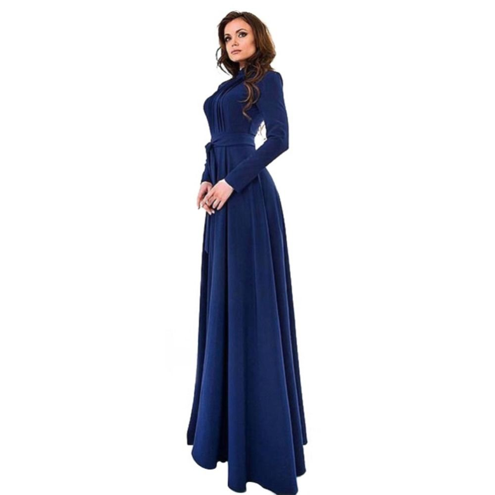 Elegant womens kaftan abaya islamic muslim evening party long sleeve