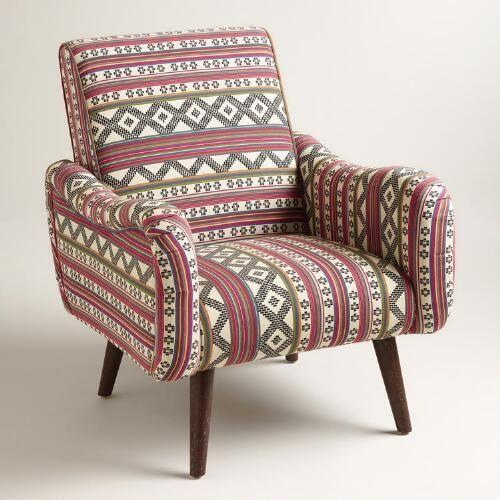 Jacquard Print Upholstered Neyla, World Market Armchair