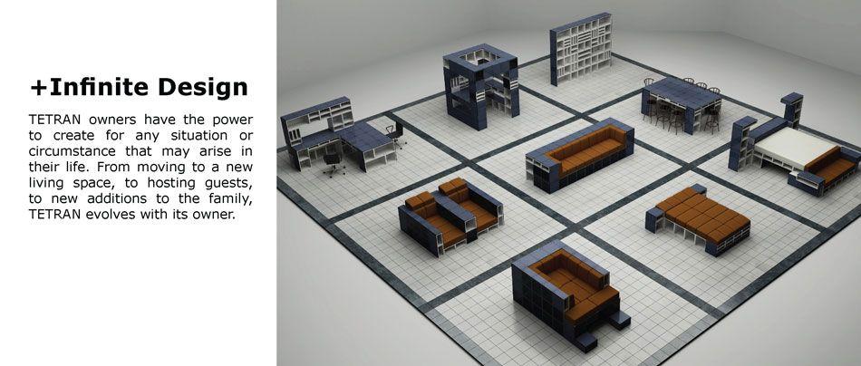 Ecosystems Tetran Modular Furniture Components Use It