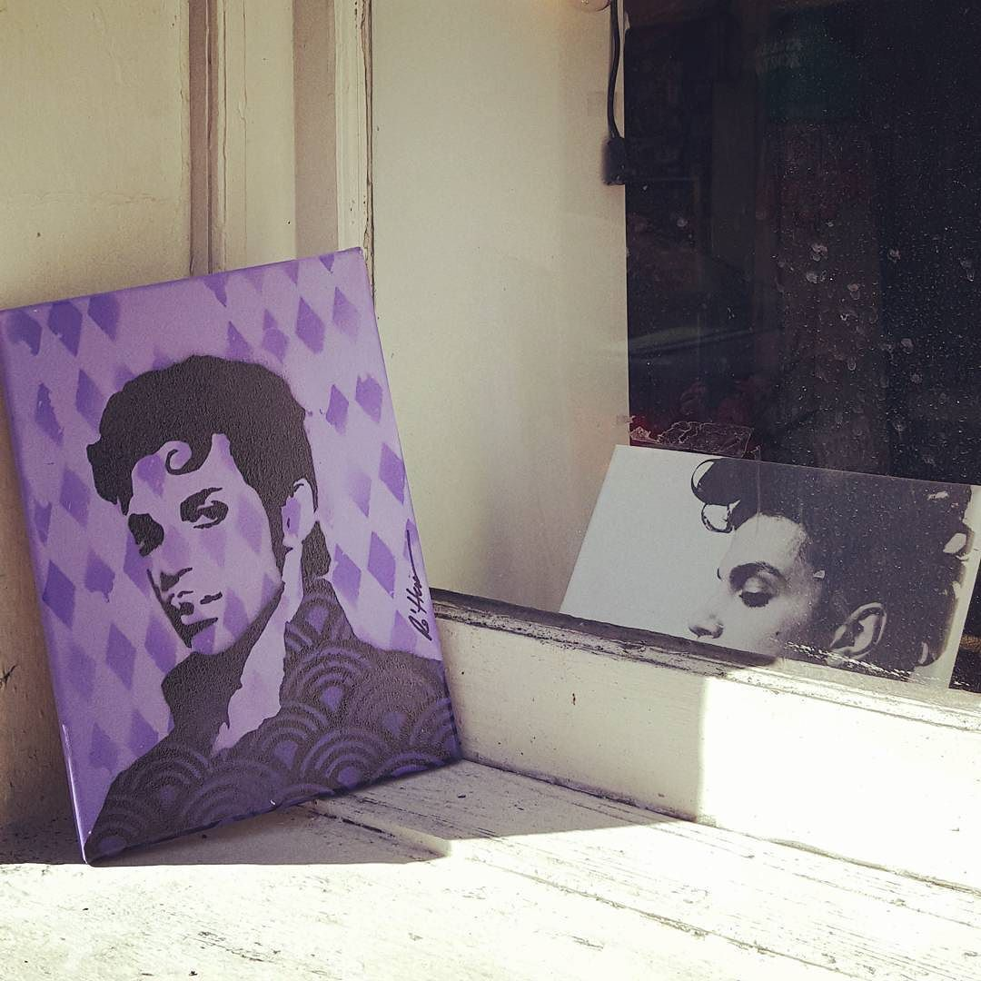 We dropped this #riprince painting for someone to discover. #crazyre #freeart #nolalove #frenchquarter #artonthestreet by nola.darling70119
