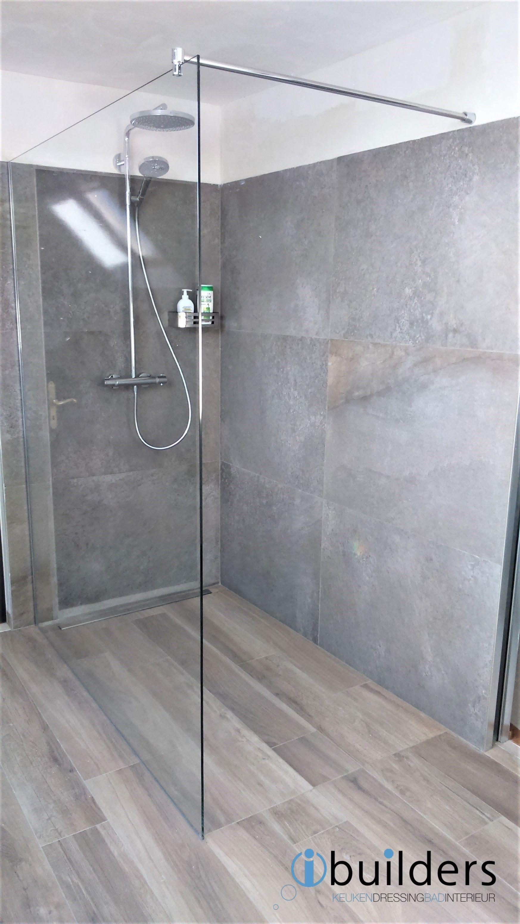 badkamer renovatie met inloopdouche 160 x 100 cm, i-drain vloergoot ...