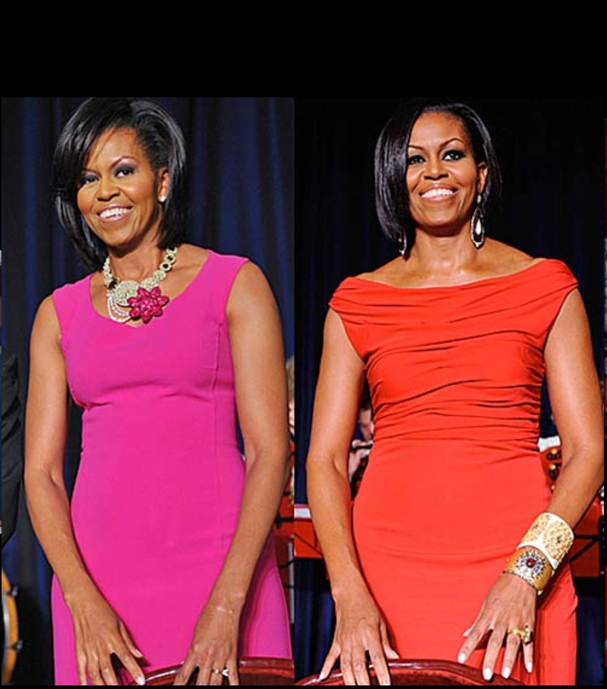 Obamas wife black before american