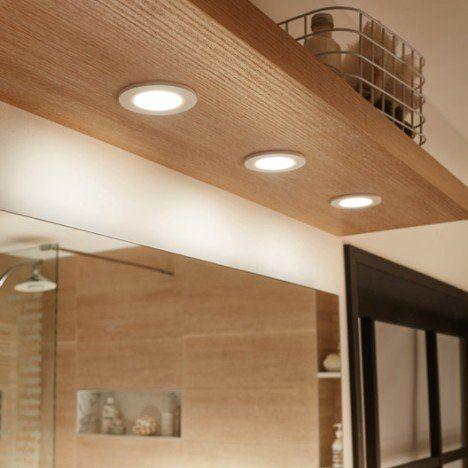 Kit 3 spots à encastrer salle de bains Bazao fixe INSPIRE ...
