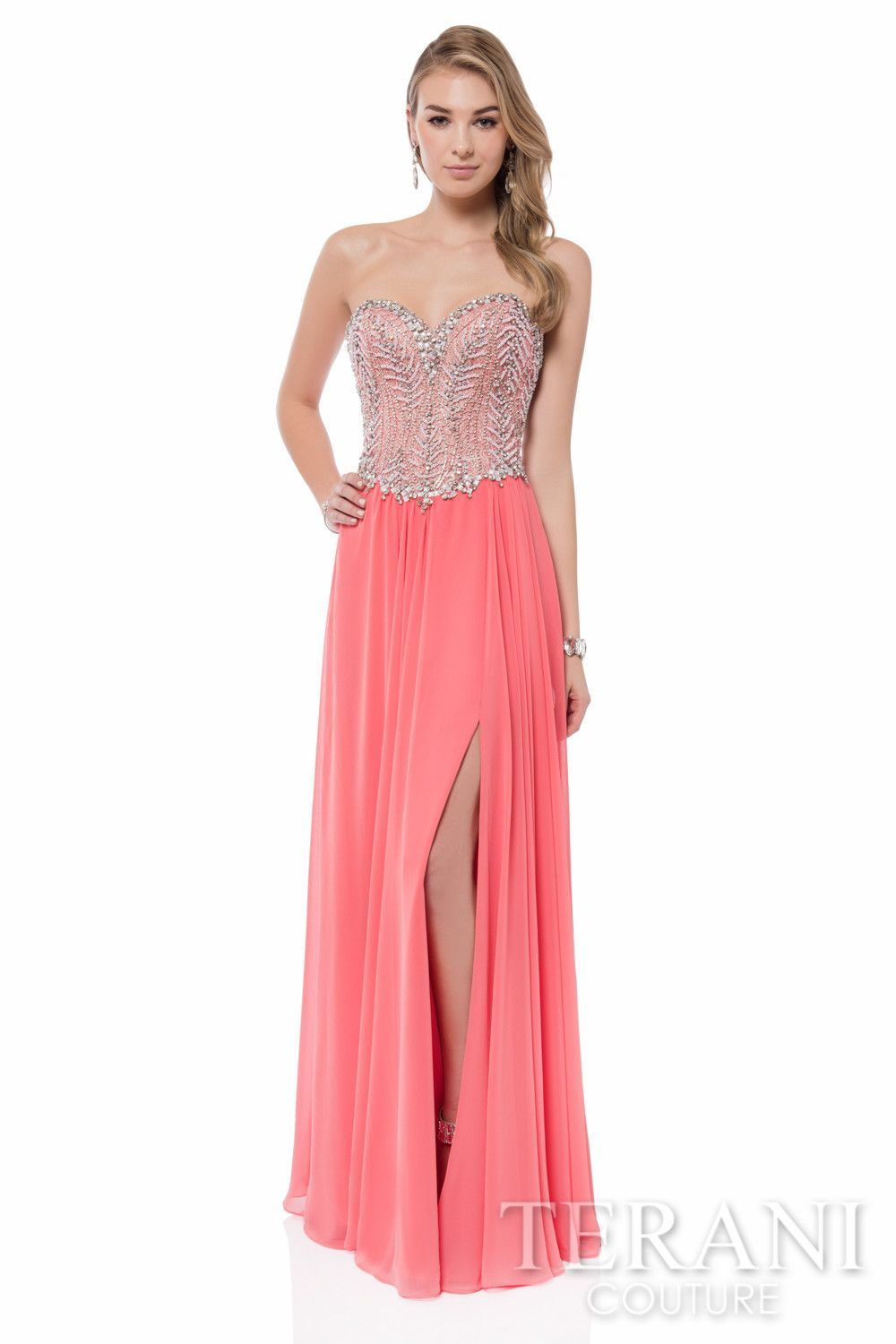 Terani Strapless Sweetheart Gown   Christmas Party Gowns   Pinterest ...
