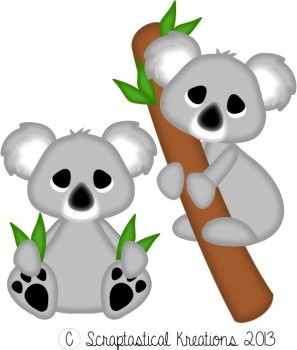 Koala Bears Scraptastical Kreations Files Bear Animals Koala