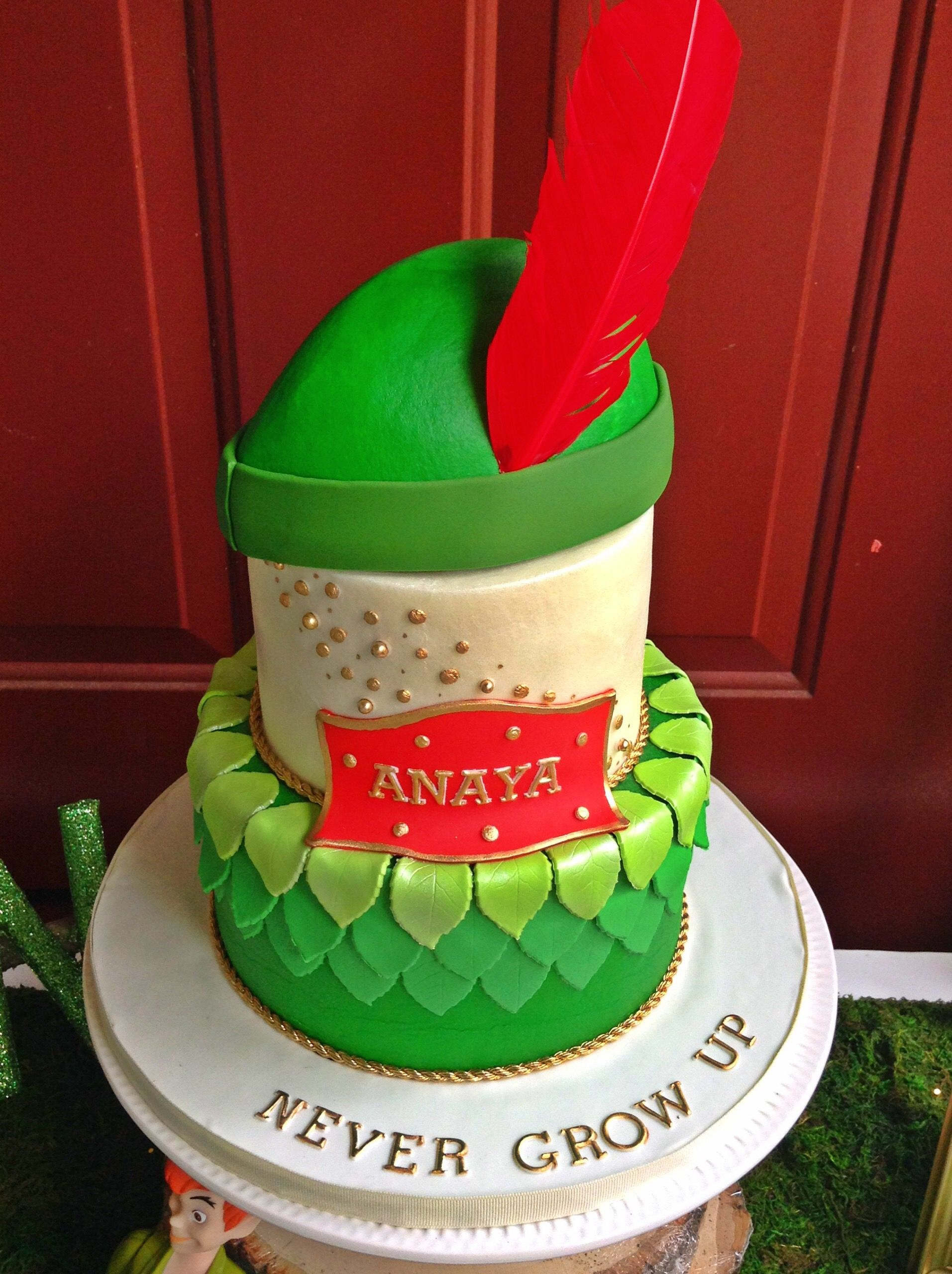 Outstanding Never Grow Up Anayas Peter Pan Birthday Party Peter Pan Cakes Personalised Birthday Cards Beptaeletsinfo