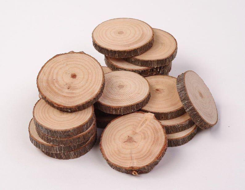 100 Pack 4 6 Cm Wood Slices 2 Inch Wood Slices Bulk Wood Slices Bulk Tree Slices Small Wood Slices For Crafts Wood Slices Wood Tree Slices