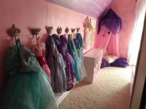 Little girl's room fairytale and dress-up