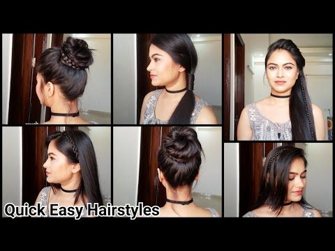 Everyday Quick Easy Hairstyles X2f X2f Indian Hairstyles For Medium X2f Long Hair For School X Easy Hairstyles Quick Easy Hairstyles Easy Work Hairstyles