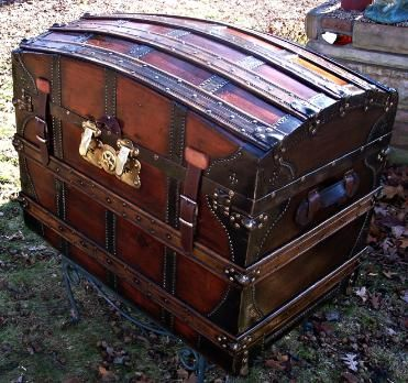 Antique Saratoga Trunk - c.1872. Great grandparents brought this type from Europe.