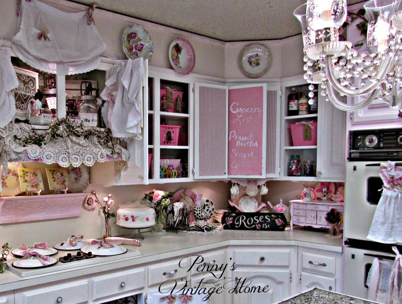 Penny s Vintage Home Organizing the Kitchen Cabinets with Totes