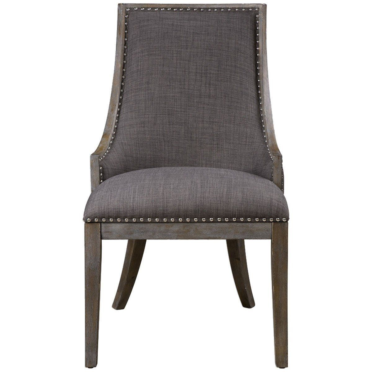 Best Uttermost Aidrian Charcoal Gray Accent Chair Products 400 x 300