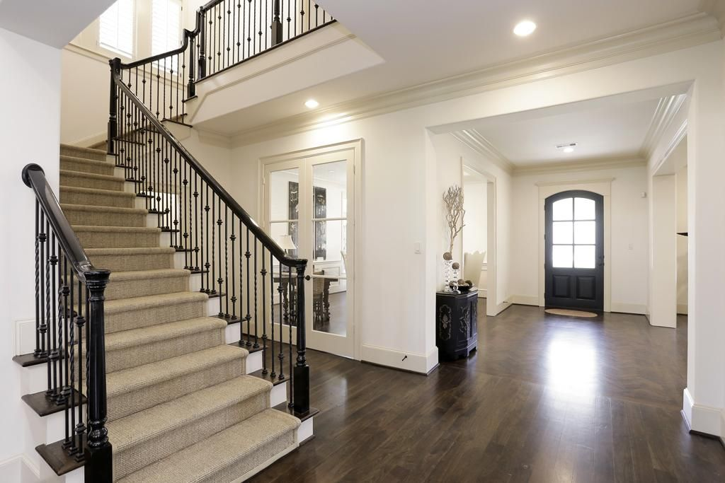 Best Black Painted Handrails With Metal Balusters Painted 400 x 300