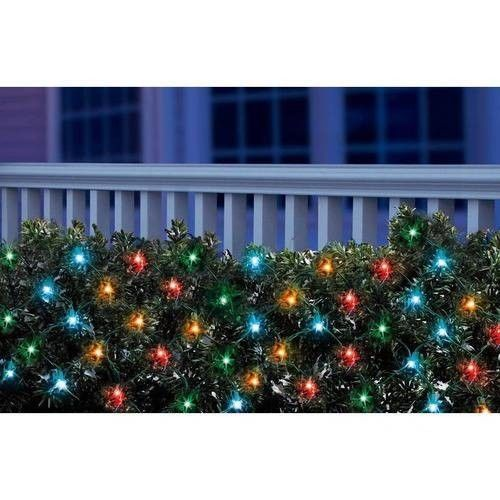 Outdoor Christmas Decoration LED Net Multi Color 150 Count 5mm