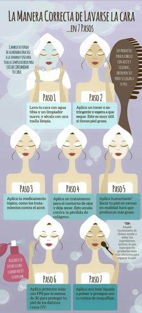 Limpieza Del Rostro Pasos Para Limpieza Facial Cuidados Para La Piel Grasa Limpieza Facial Casera