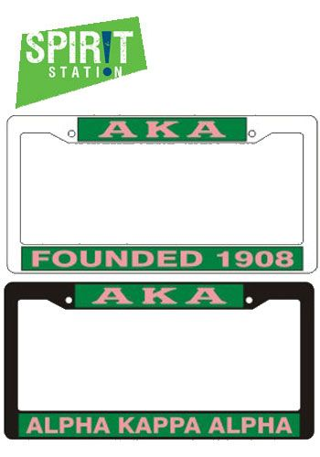 Alpha Kappa Alpha Plastic License Plate Frame-On sale this week! (1 ...