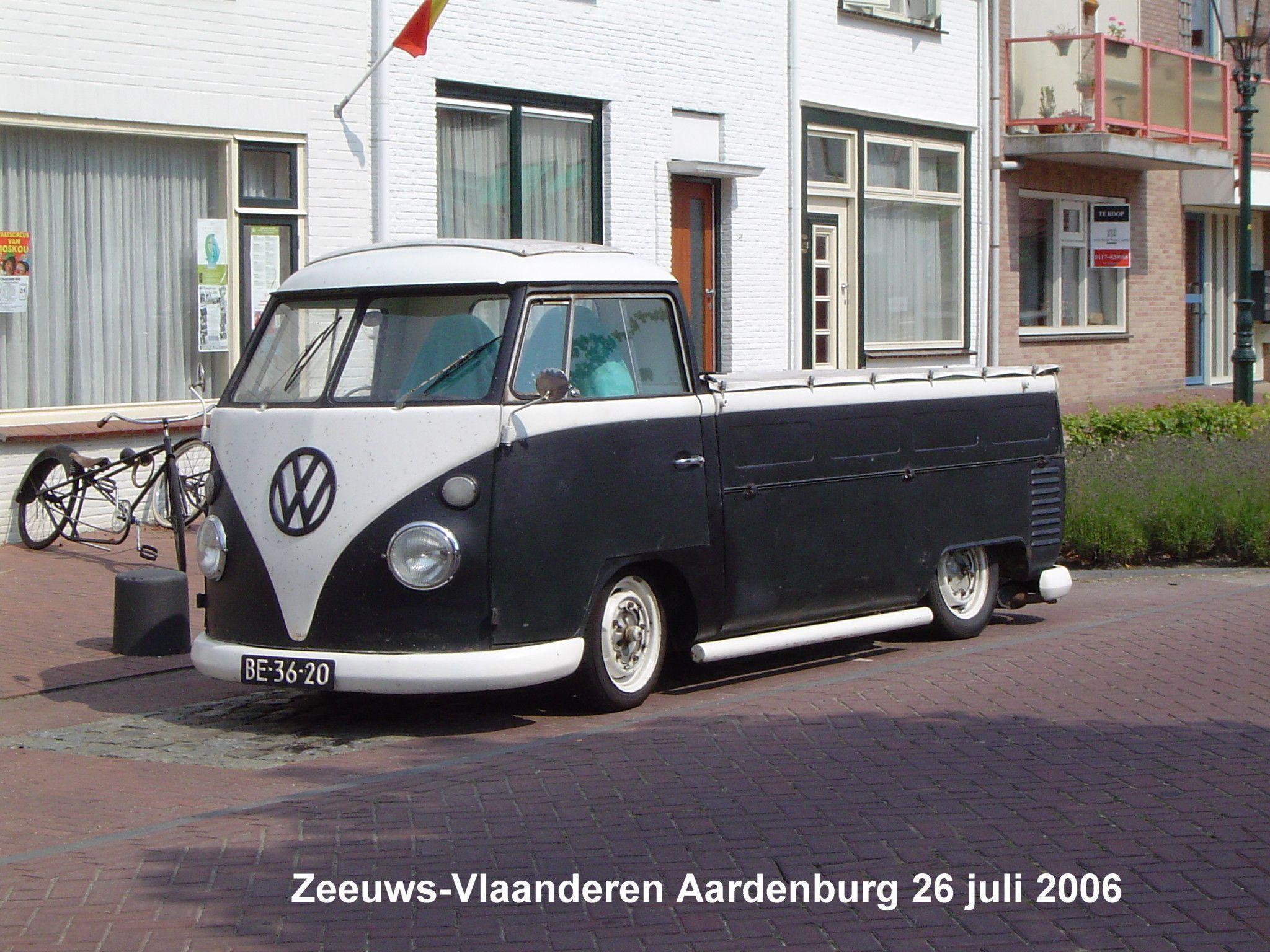 Vw T 1 Pick Up Zwart Vw T Vw T1 Camper Vw T1