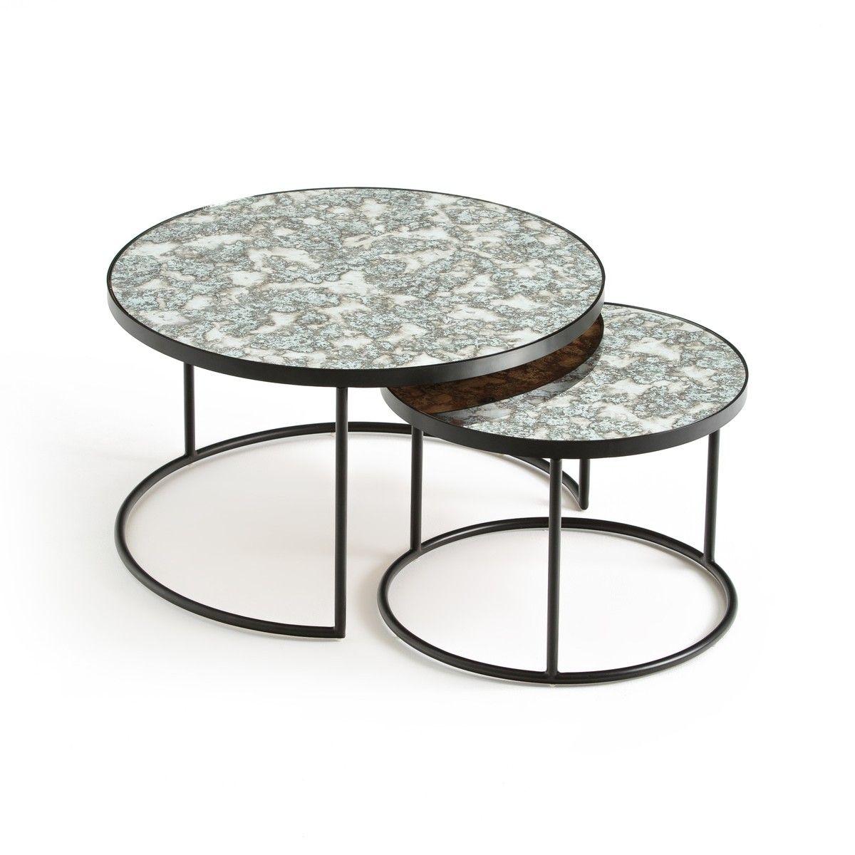 Best Lipstick Set Of 2 Semi Nesting Coffee Tables Large 400 x 300