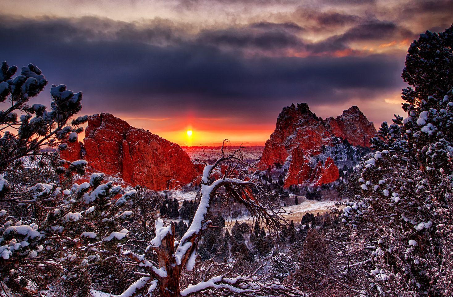 Colorado Springs Area Winter sunrise, Sunrise, Colorado