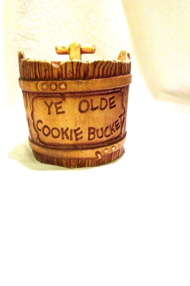 Cookie Jars For Sale Online Amazing Twin Winton Ye Olde Bucket Cookie Jar Or Cannister 60 Vintage Ebay