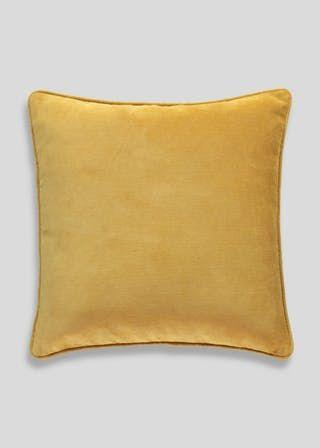 Best Large Check Cushion 58Cm X 58Cm – Ochre In 2020 400 x 300