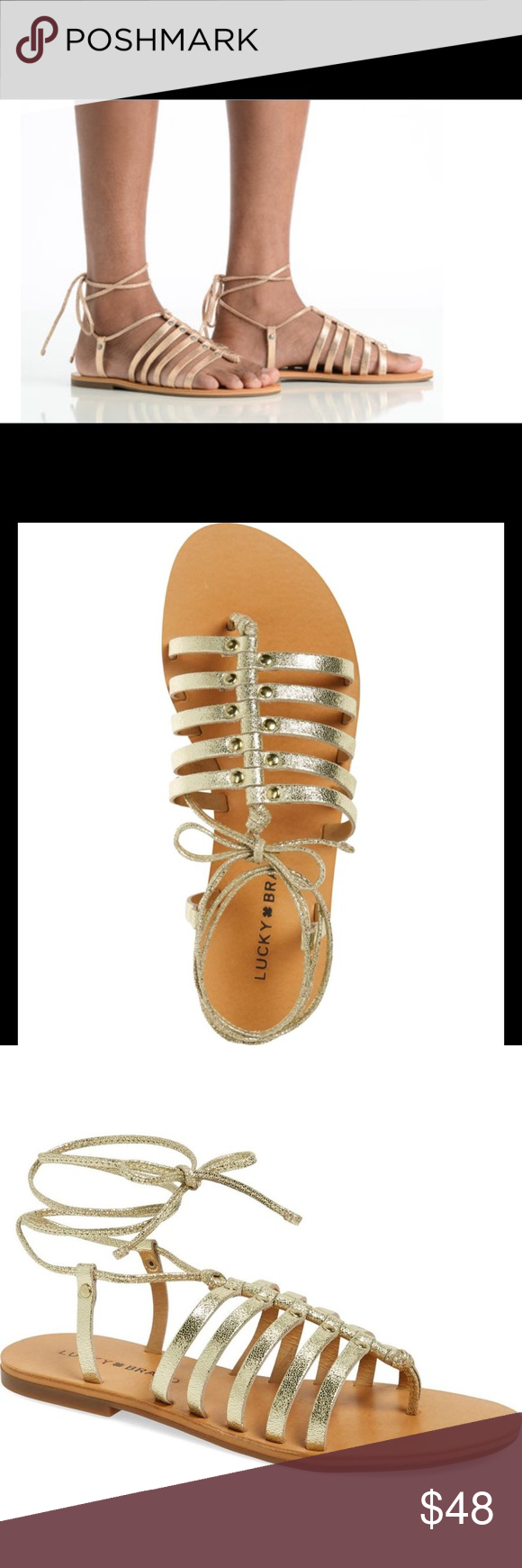 7dd00cab88f5 🆕LUCKY BRAND COLLETTE LACEUP GLADIATOR SANDAL(Sz7 LUCKY BRAND COLLETTE  LACE UP GLADIATOR SANDAL