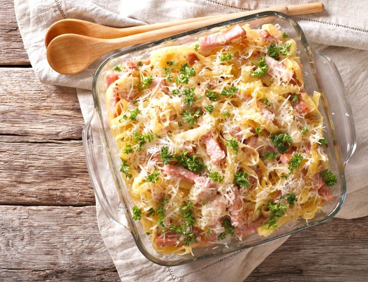 Pasta with ham recipes parmesan