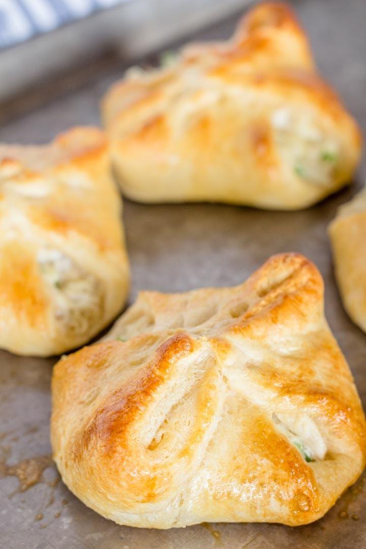 Chicken Cream Cheese Croissants - Devour Dinner. Cream ...