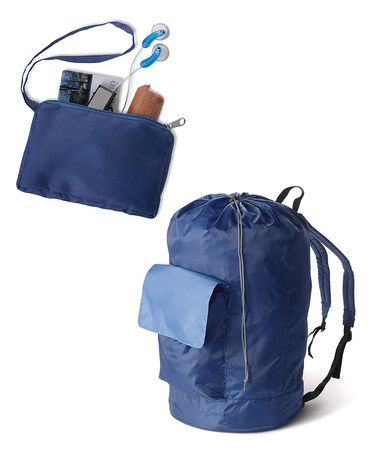 Another great find on #zulily! Navy & Gray Laundry Pack & Coin Pouch #zulilyfinds