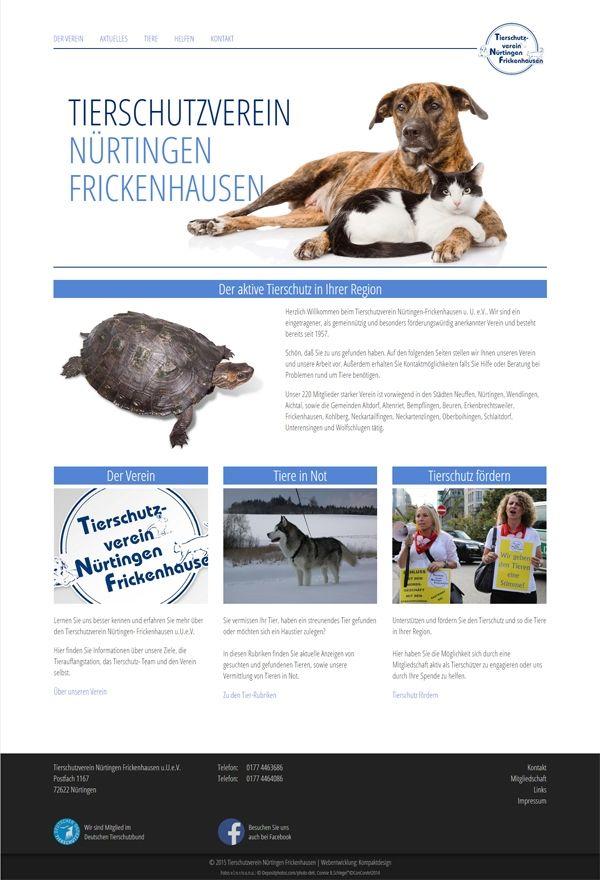 Webdesign - Tierschutz Nürtigen Frickenhausen