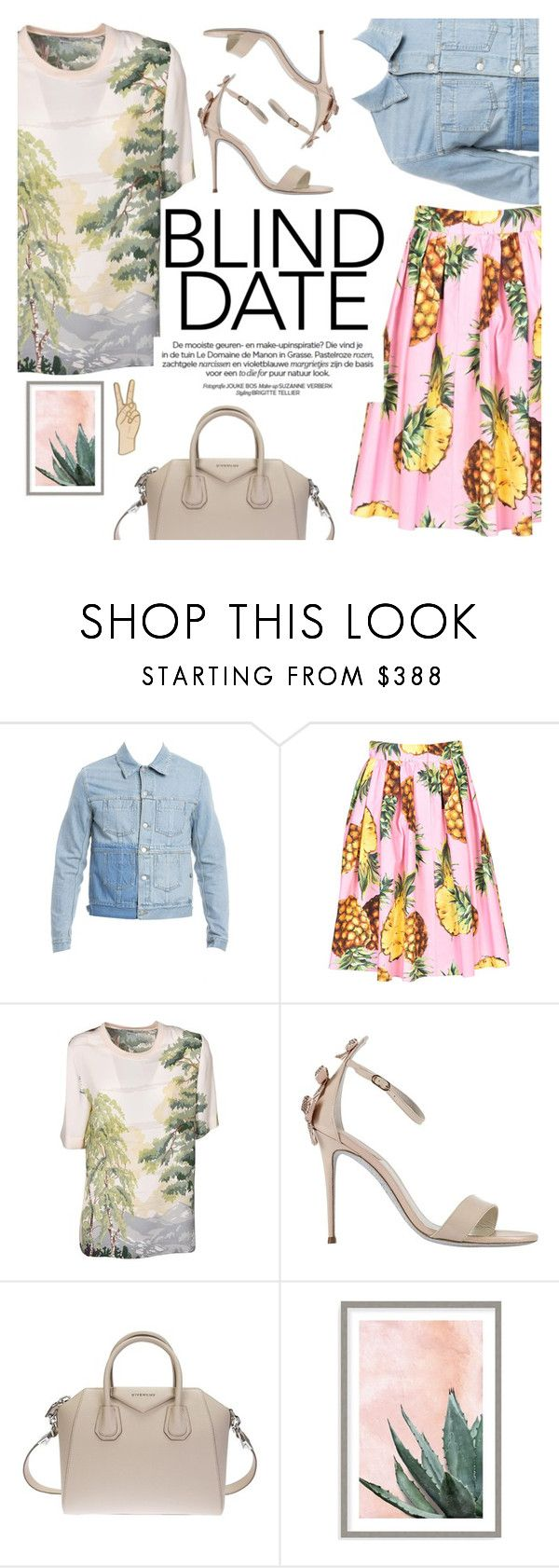 """""""Dress to Impress: Blind Date"""" by italist ❤ liked on Polyvore featuring Maison Margiela, Dolce&Gabbana, STELLA McCARTNEY, René Caovilla, Givenchy, Art Addiction and Lucky Brand"""