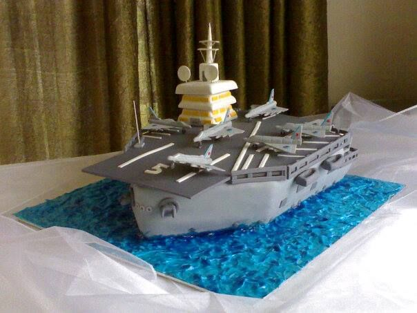 An Aircraft Carrier Cake With Edible Everything Apart